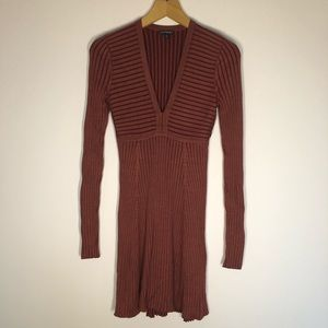 Brown Express sweater dress size XS